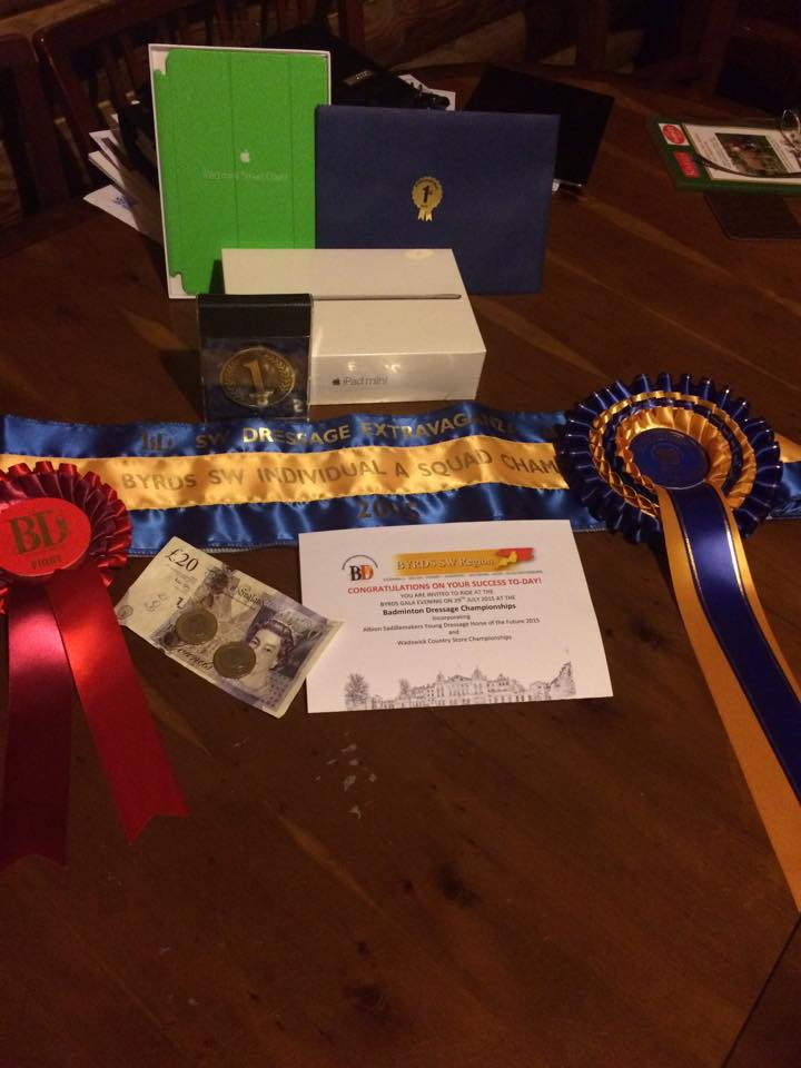 rosettes and prizes dressage