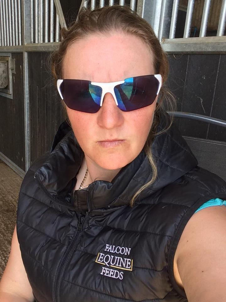 Lisa Sporting her Uvex Sunglasses and Falcon Bodywarmer