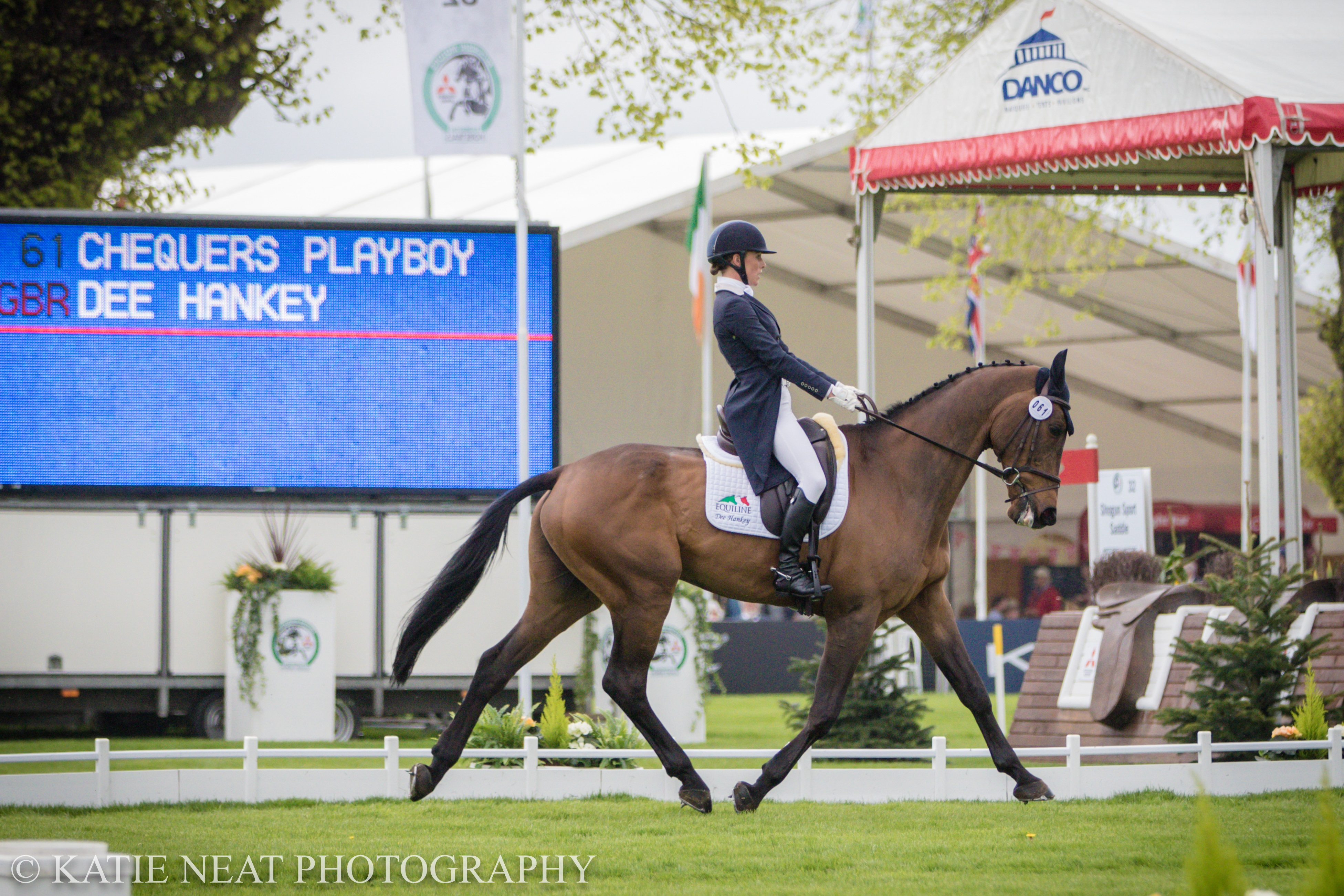 Dee Hankey and Chequers Playboy 2018 at Badminton