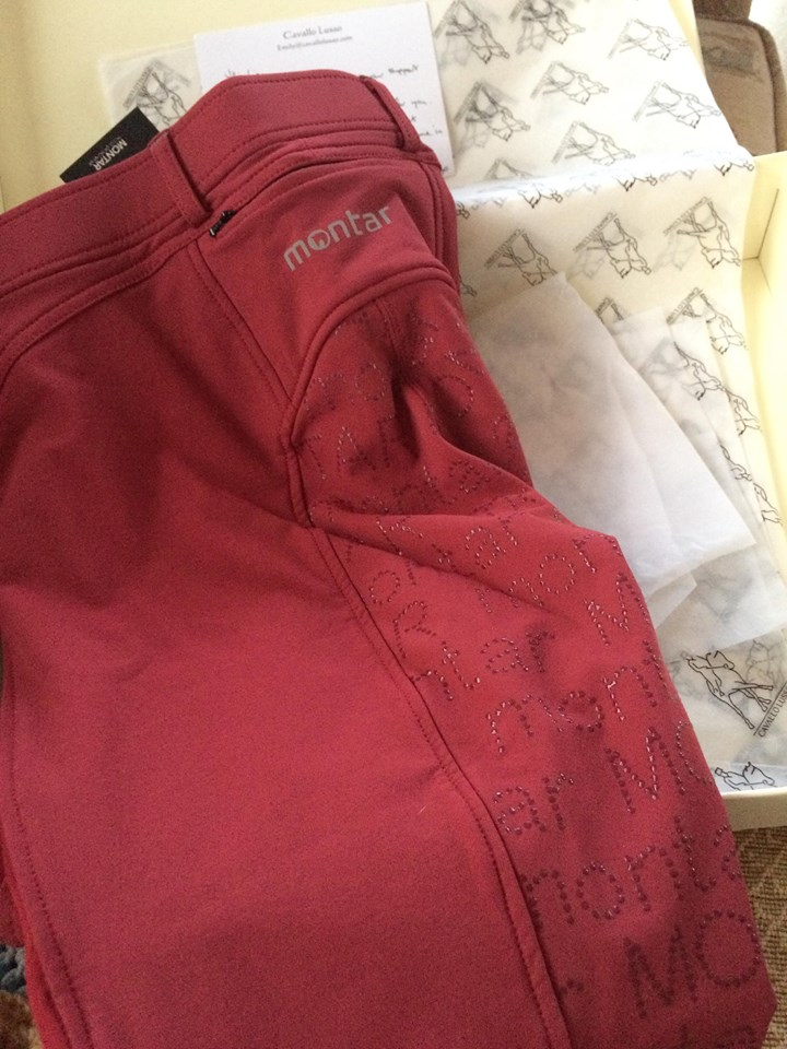 Montar Kelly Ruby Red Yati Breeches with full seat silicone- Tried and Tested