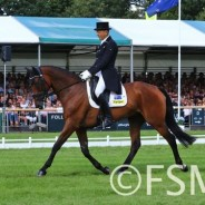 Bill Levett in the Top Ten after Dressage at Burghley 2018 #LRBHT