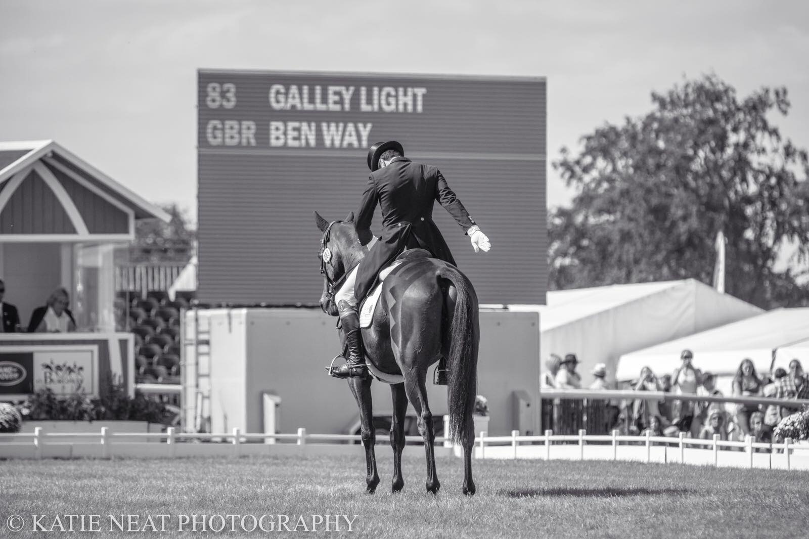 Ben Way gets a pleasing test out of Galley Light in the Dressage at Burghley 2018 #LRBHT