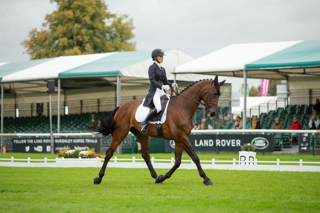 Chequers Playboy Does His best 5* Dressage to Date This Year At Burghley : Dee Kennedy