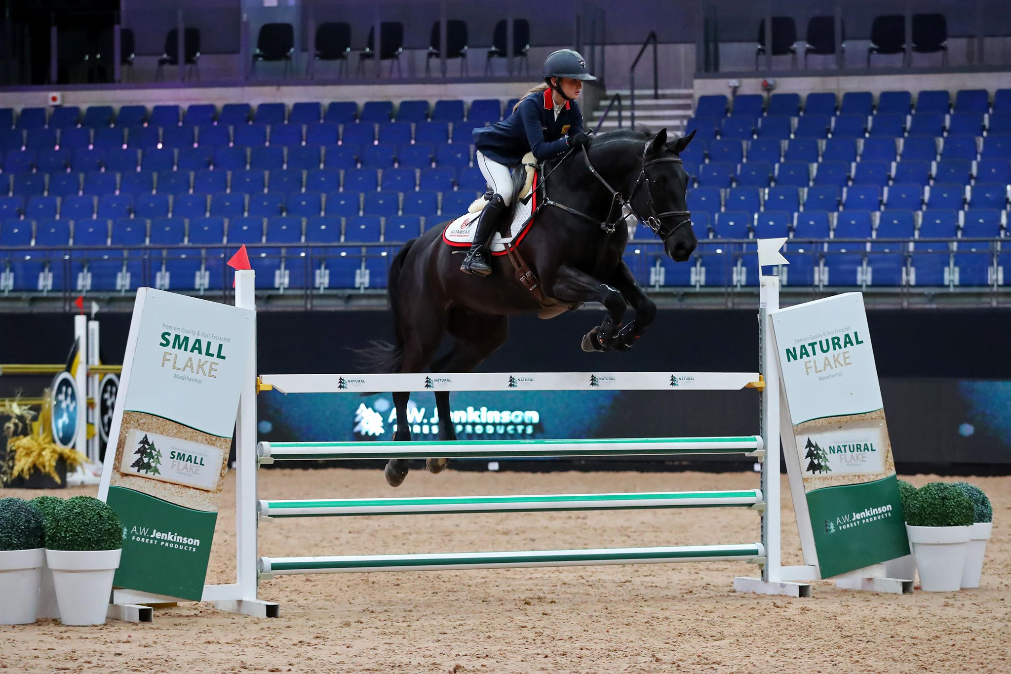 Lila Bremner, daughter of star impressionist Rory Bremner, triumphs at Liverpool International in the 1.25 Jump off